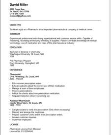 Pharmacist Objective Statement Pharmacist Resume Example Free Templates Collection