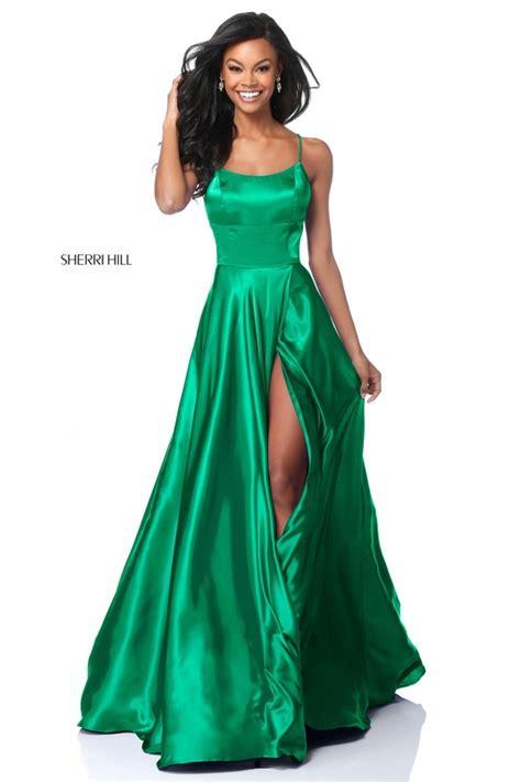 Two Dress Green Import 51631 sherri hill