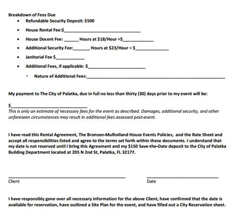 Downloadable Lease Agreement Template sample house lease agreement template 7 samples