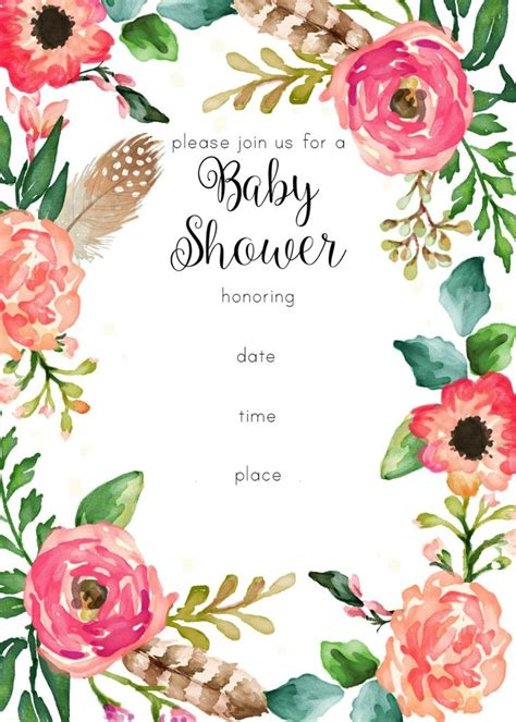 Floral Birthday Card Template by Best 25 Floral Baby Shower Ideas On Baby