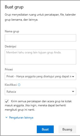 membuat email office membuat grup di outlook dukungan office