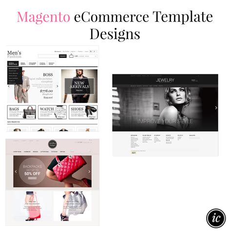 Ecommerce Website Template Designs Imperfect Concepts Magento Website Templates