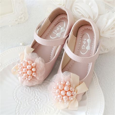 light pink baby shoes light pink girls shoes flower shoes youth