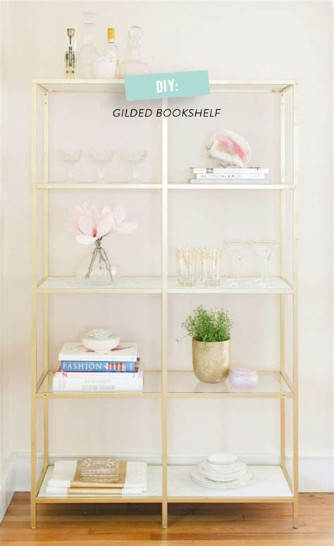 hack gold marble shelves ferns sprays and
