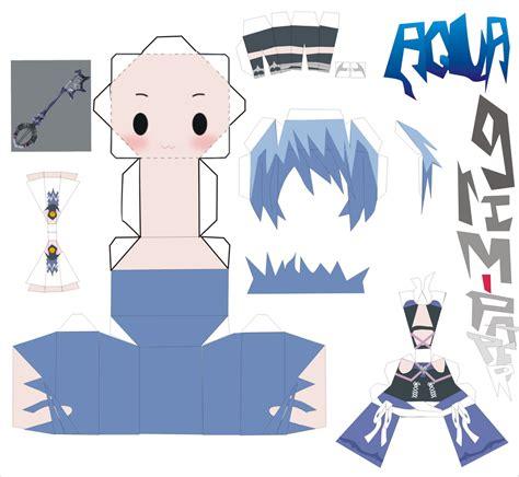 Kingdom Hearts Papercraft - aqua kingdom hearts pattern by grim paper on deviantart