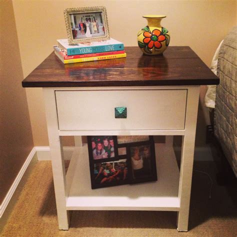 ana white farmhouse bedside tables  toned diy projects