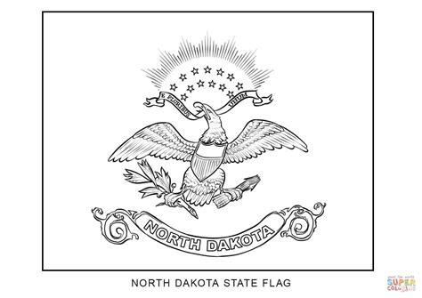 flag of north dakota coloring page free printable