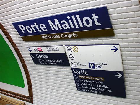ligne de metro porte maillot subway application