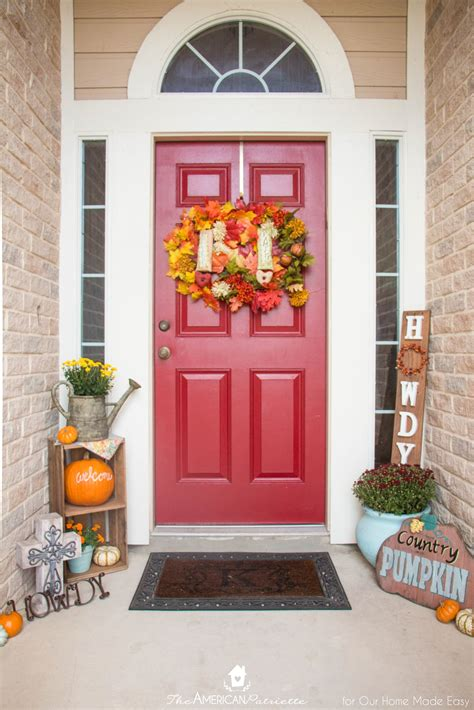 ways  decorate  colorful front porch  home  easy