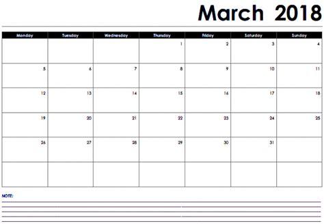 printable calendar 2018 fillable march 2018 calendar fillable printable