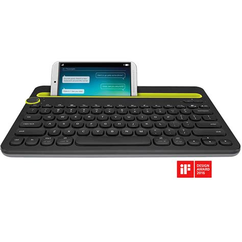 Keyboard Multi Device Bluetooth Logitech K480 Black logitech bluetooth multi device keyboard k480 black jakartanotebook