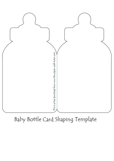 baby bottle template card template to help you create some interest in an otherwise