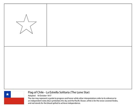 chile color chile flag coloring page free printable coloring pages