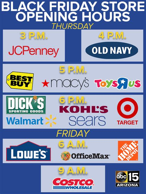 black friday store hours stores open as early as 3pm for