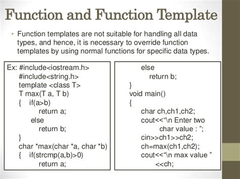 what is function template templates presentation