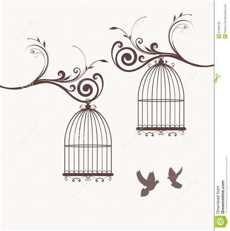 imagenes vintage de jaulas jaulas de p 225 jaros ilustraci 243 n del vector imagen 51899136