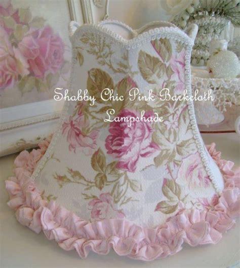 shabby chic pink barkcloth lshade shabby chic l shades and cloths