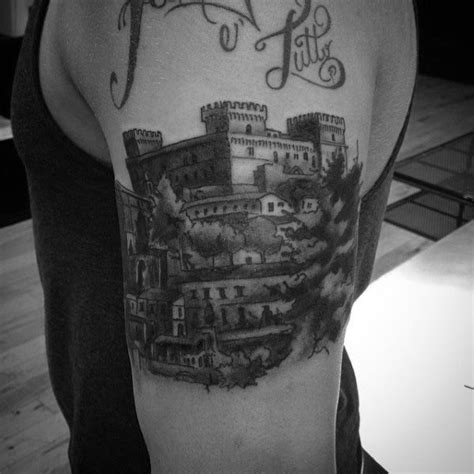 castle tattoos design 80 castle tattoos for masculine fortress designs