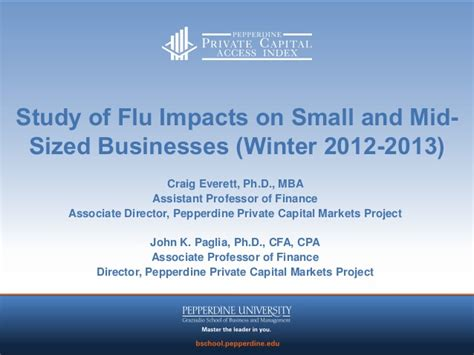 Pepperdine Mba Login by Pepperdine Flu Impact On Small And Medium Sized Businesses