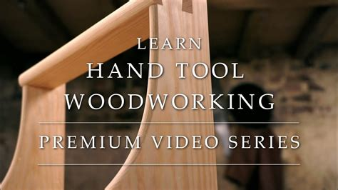 learn hand tool woodworking  intro  project