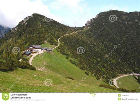 german mountain german mountain scenery with chalet bavaria stock photo image 12341318