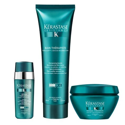 Serum Kerastase k 233 rastase resistance therapiste shoo masque and serum