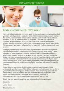 Dental Cover Letter by Dental Assistant Cover Letter Sle Sle Cover Letters