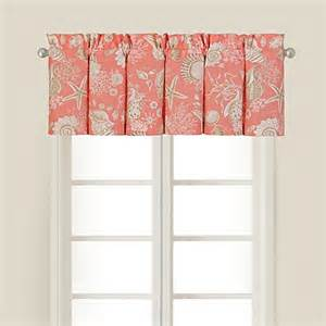 where to buy valances for windows buy shells window valance in coral from bed bath