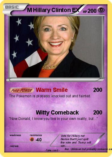hillary clinton biography in english pok 233 mon m hillary clinton ex warm smile my pokemon card