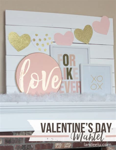 valentines mantel decor valentine s day mantel decorations and ideas chuckiesblog