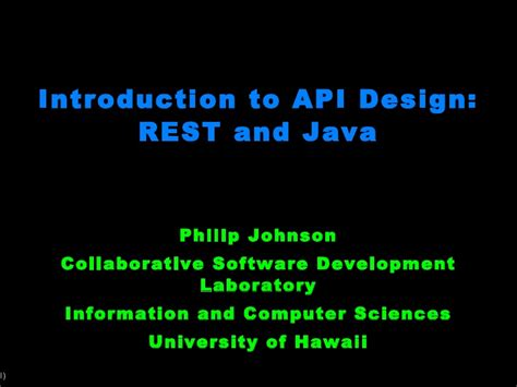 api design guidelines java introduction to api design rest and java