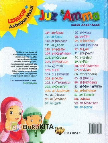 Terlaris Asbabun Nuzul bukukita juz amma untuk anak anak lengkap asbabun