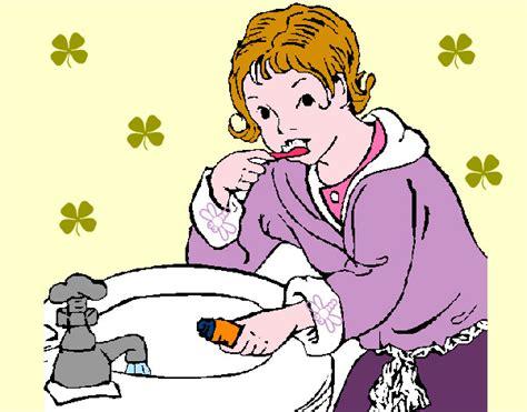 imagenes de niños lavandose los dientes ni 241 os aseandose colouring pages page 3