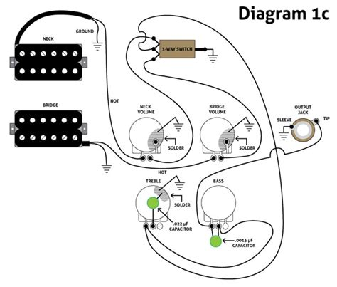 wiring diagram easy simple bass guitar wiring diagram
