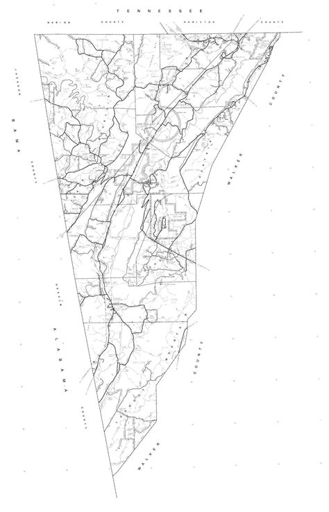 Dade County Search Maps Dade County 1995 Dot Highway Map Georgiainfo