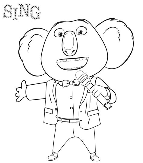 free coloring pages of sing a song of sixpence sing movie coloring pages coloring home