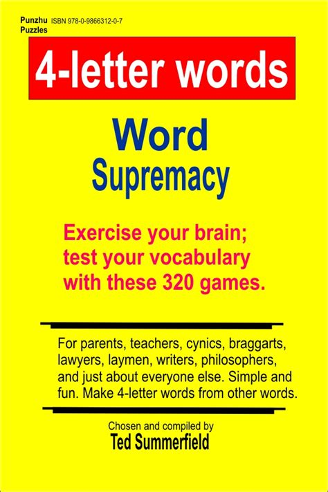 4 Letter Words Puzzle 4 letter words ted summerfield aka punzhu puzzles