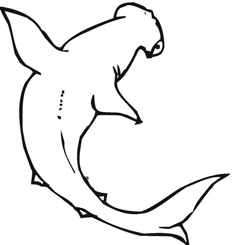 coloring page of a hammerhead shark free printable shark coloring pages for kids