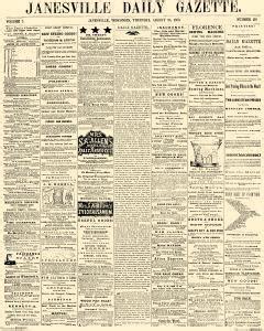 Janesville Gazette Records Janesville Daily Gazette Newspaper Archives Aug 20 1863