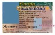 Florida Drivers License Template by Driver License Templates Photoshop File On
