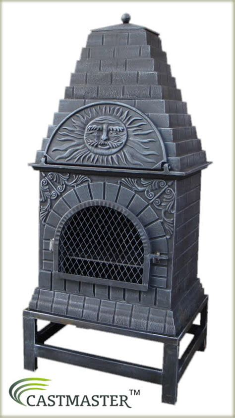 chiminea with pizza oven castmaster large pizza oven cast iron outdoor garden