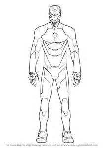 ironman drawing learn how to draw iron suit iron step by step