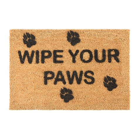Your Paws Doormat buy artsy doormats wipe your paws door mat amara