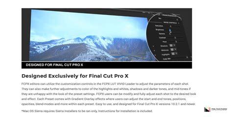 final cut pro lut pixel film studios releases fcpx lut vivid for final cut pro x