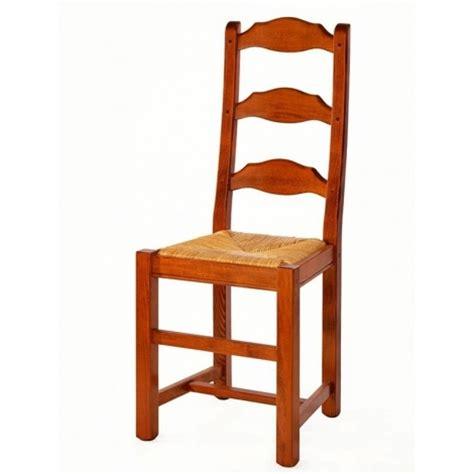 chaise bois cuisine chaise de cuisine en bois et paille elba