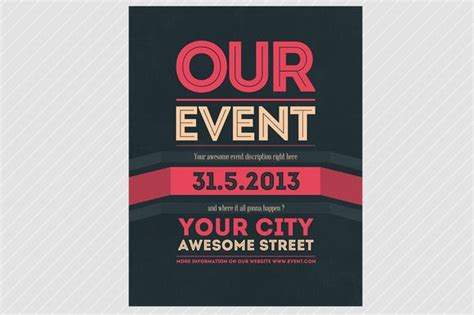 flyer exles for events our event flyer psd template