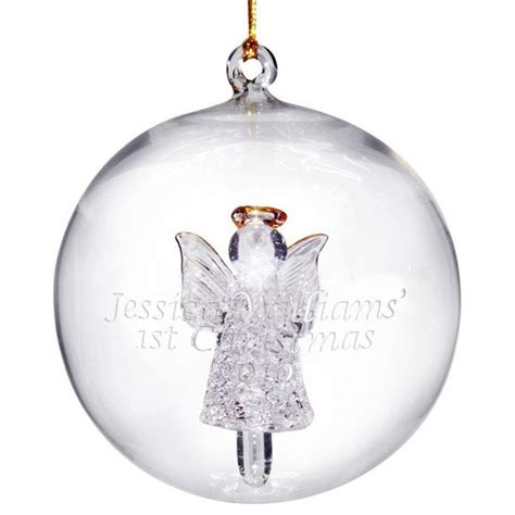 personalised glass angel christmas bauble find me a gift