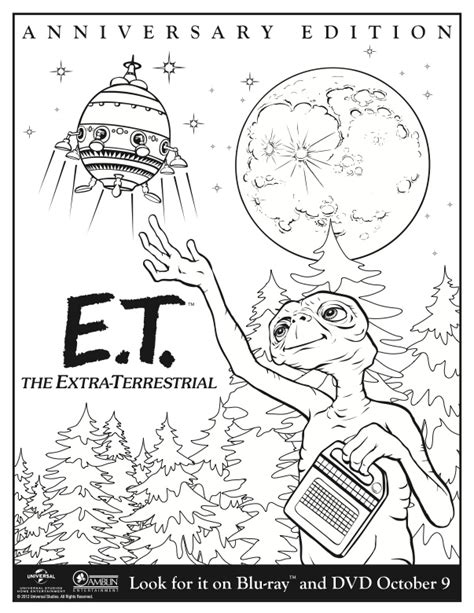 Et Coloring Pages Kids Coloring Free Kids Coloring Et Coloring Pages