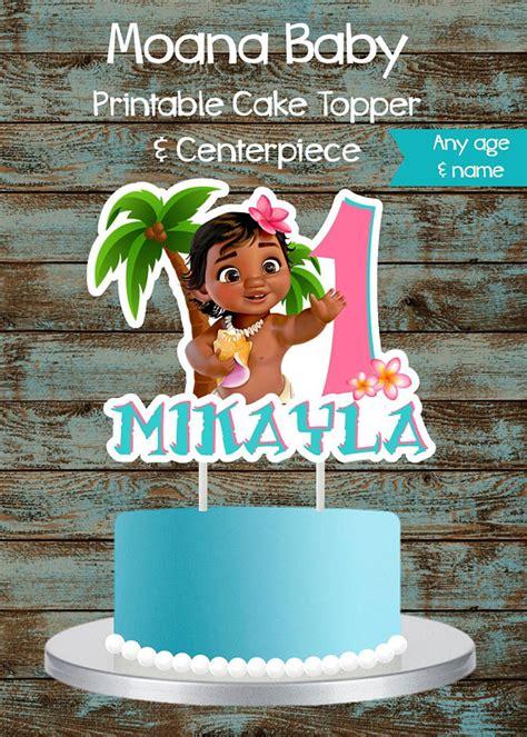 moana baby cake topper moana cake topper printable moana