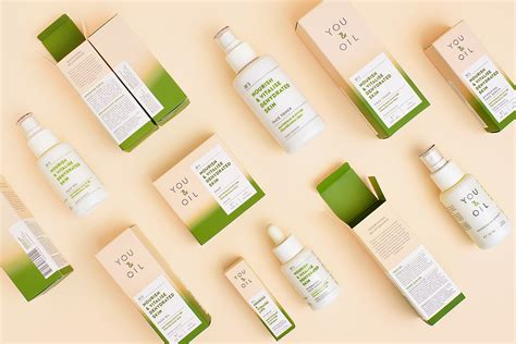 Calming Color you amp oil natural cosmetics the dieline packaging
